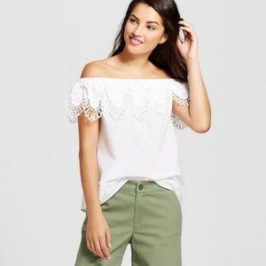 👕MERONA -  Lace Off-Shoulder Top